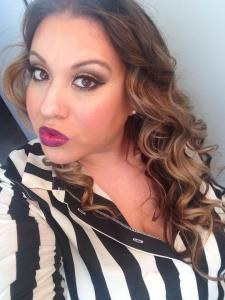 "A fun babyshower look put together by Erin using: *Urban Decay's Naked Palette *Makeup Forever's foundation and Powder *Urban Decays Revolutionary lipstick in ""venom"""