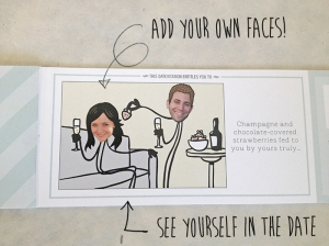 I love that you can add a more personal touch by adding your own faces to the coupon book. You can also change up your hairstyle if you like!
