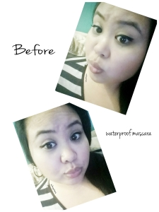 My before photos wearing Pur Minerals :  Big Look Waterproof Mascara (My current favorite)