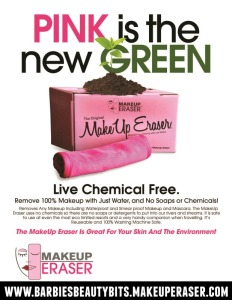 Pink is the new green ecofriendly way to remove makeup with the makeup eraser by barbies beauty bits