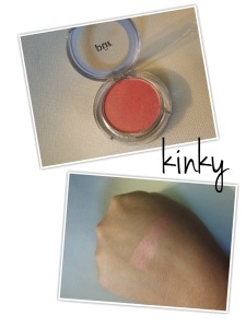 Kinky is another beautiful versatile color that adds a nice glow to the cheeks.  It reminds me of Nars Orgasm.